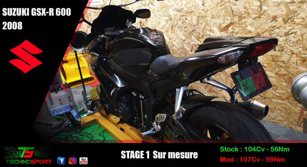 Reprogrammation stage 1 SUZUKI GSXR 600