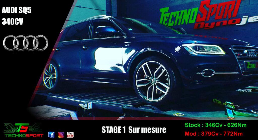 Reprogrammation Audi SQ5 340CV stage 1 boite de vitesse